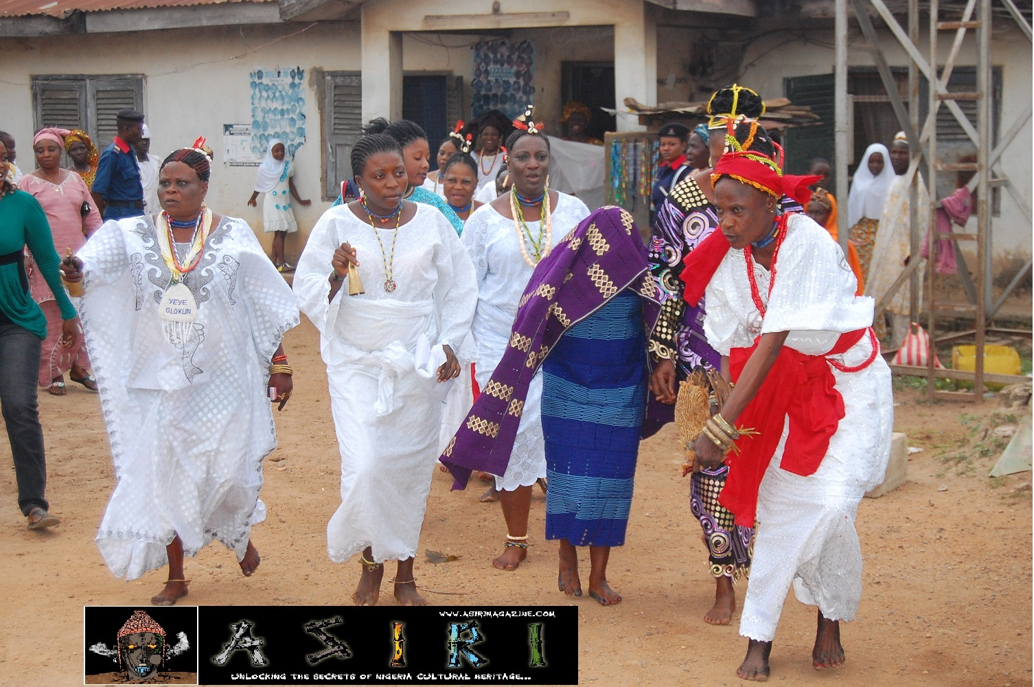 Arugba and Osun Priestess in Procession