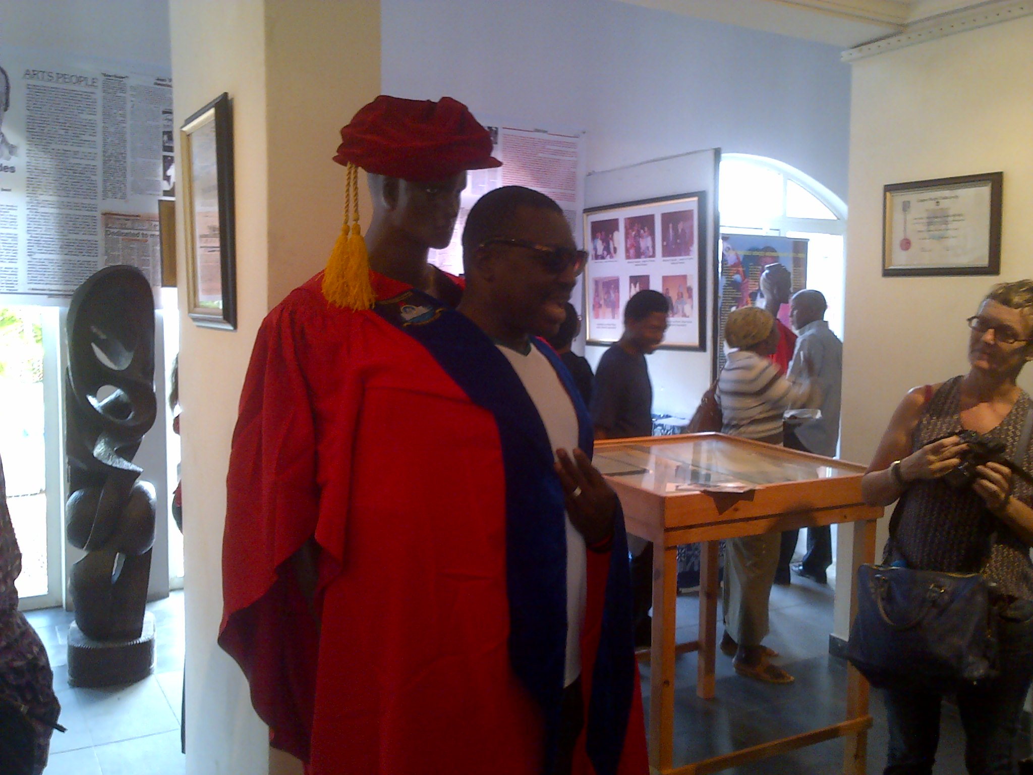 Ace Comedian Ali Baba trying to fit in Elder Steve Rhodes academic gown