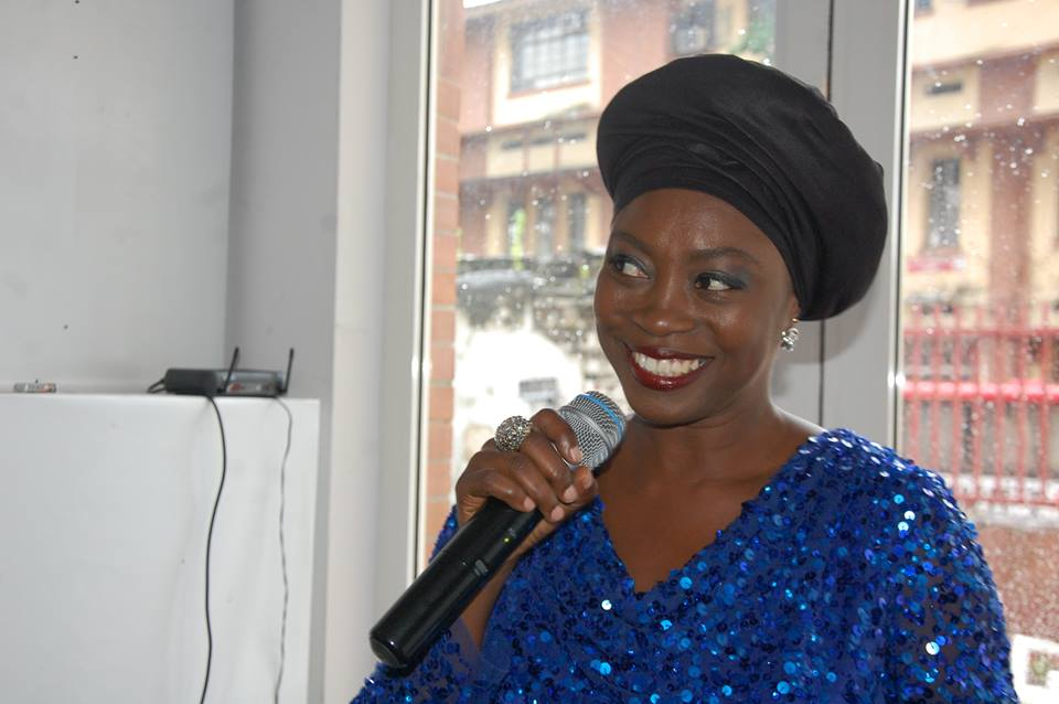 Songbird, Yinka Davies.. serenading  the guests with her beautiful voice.