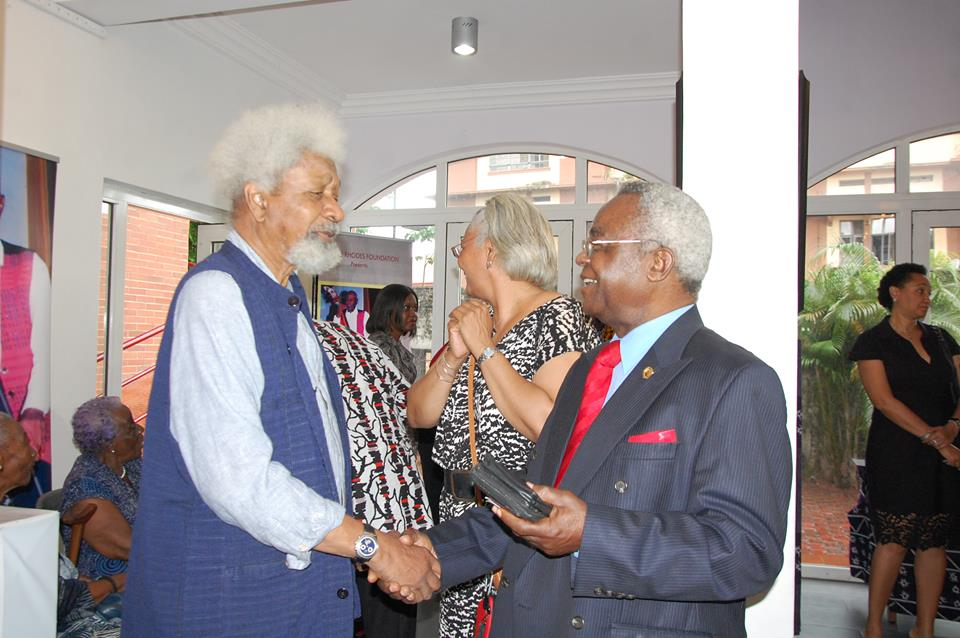 Special Guest of Honour, Wole Soyinka and Prof. Johnson Ikepere, Chairman of the Steve Rhodes Foundation, SR