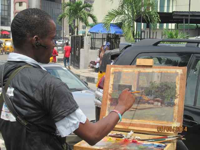 Painting Lagos Island