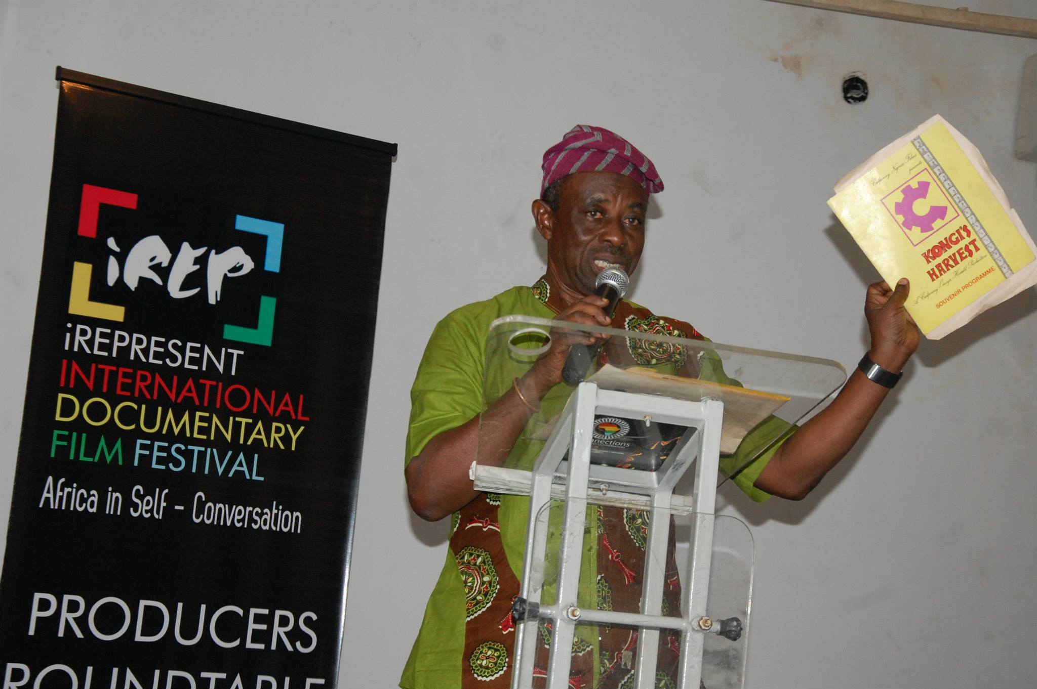 Tunde Kelani giving a powerful tribute in honour of Wole Soyinka