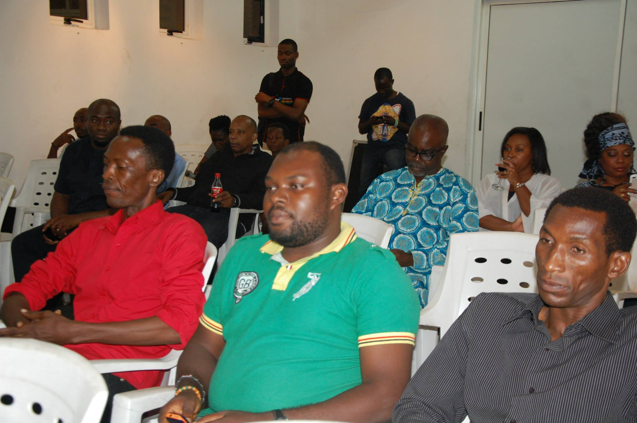 Cross section of guest at the event.