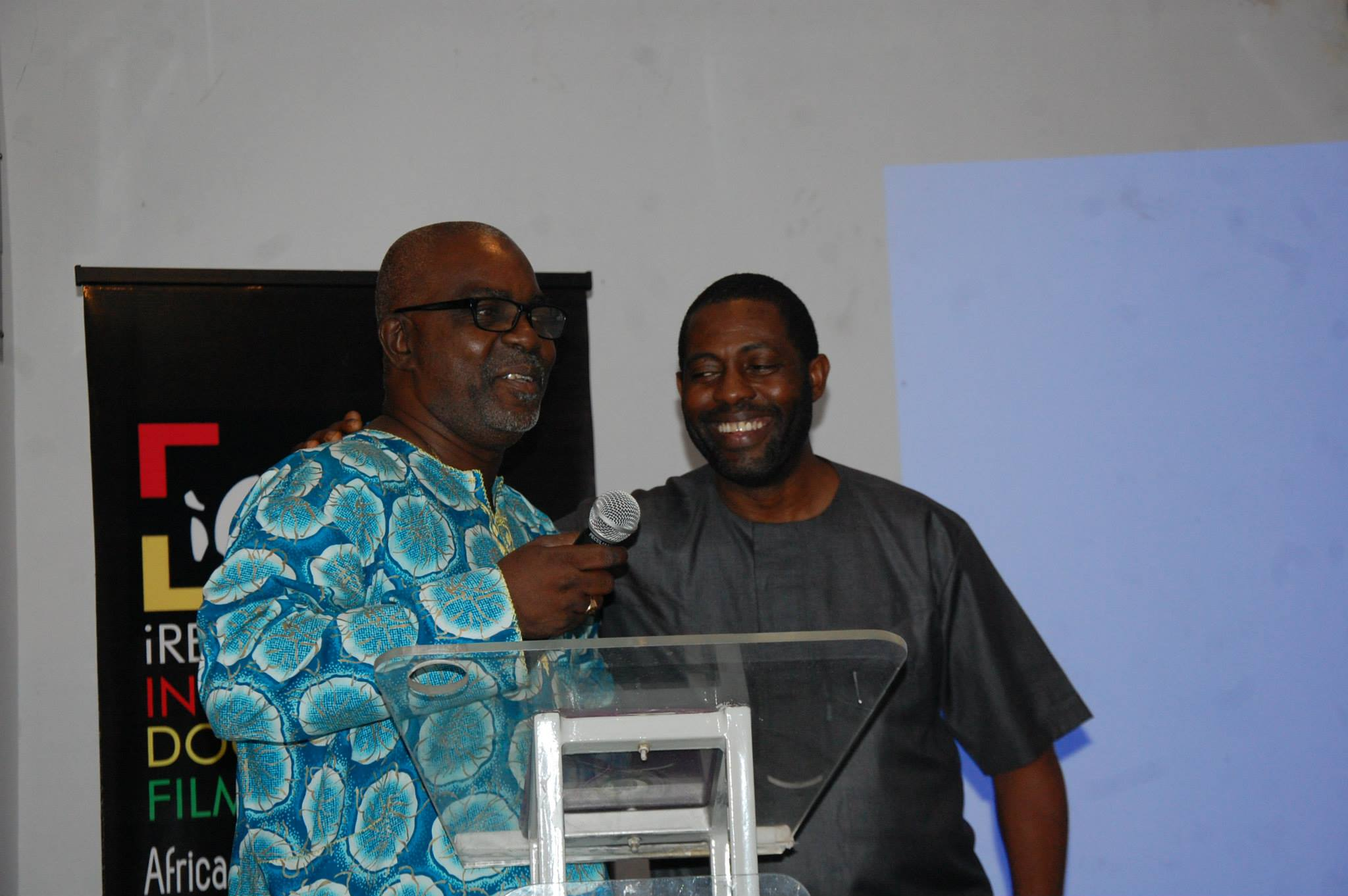 Mr Theo Lawson and Femi Odugbemi