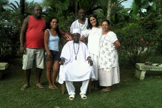 Araba and his friends in Brazil