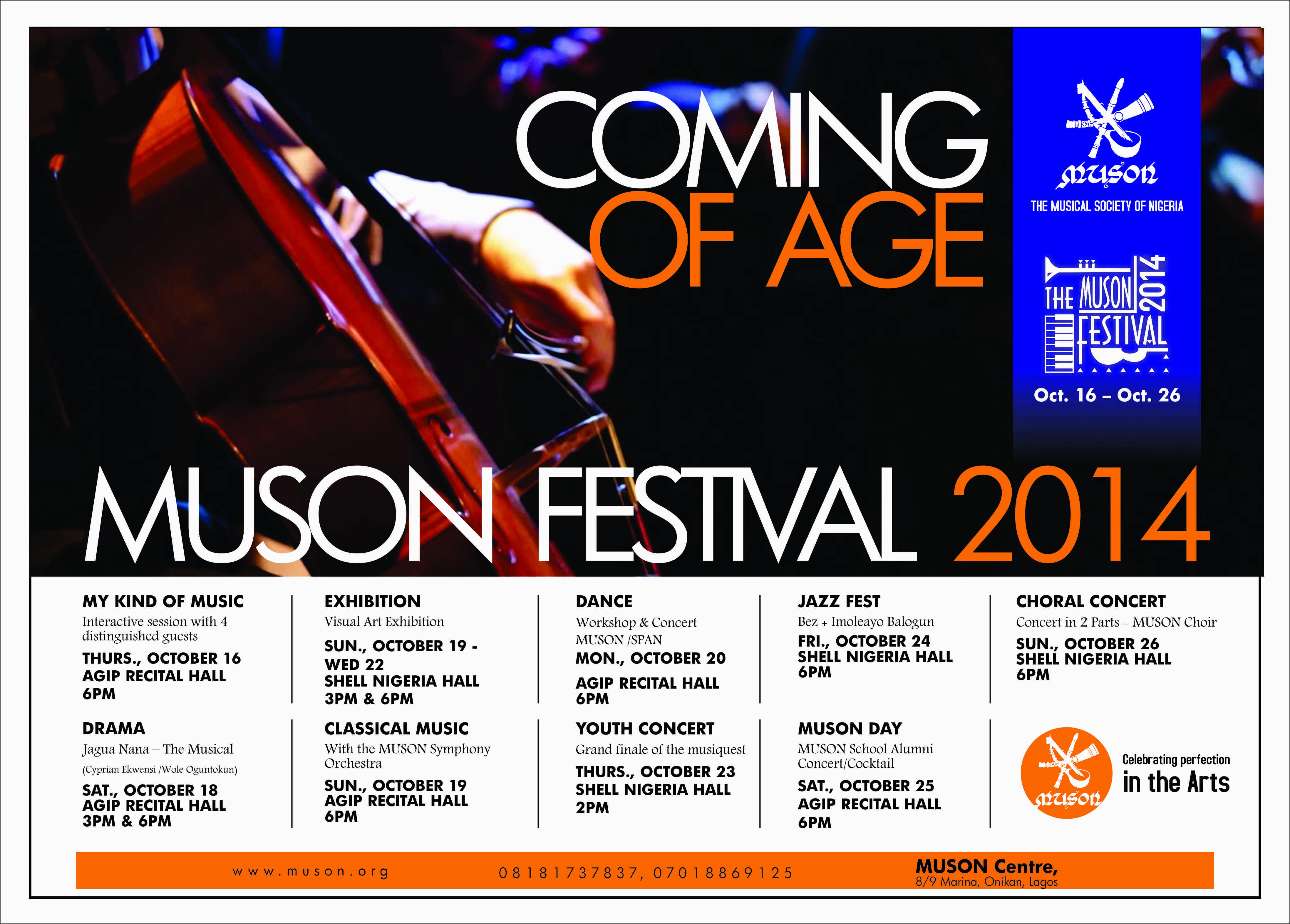 Muson Festival 2014,Details.