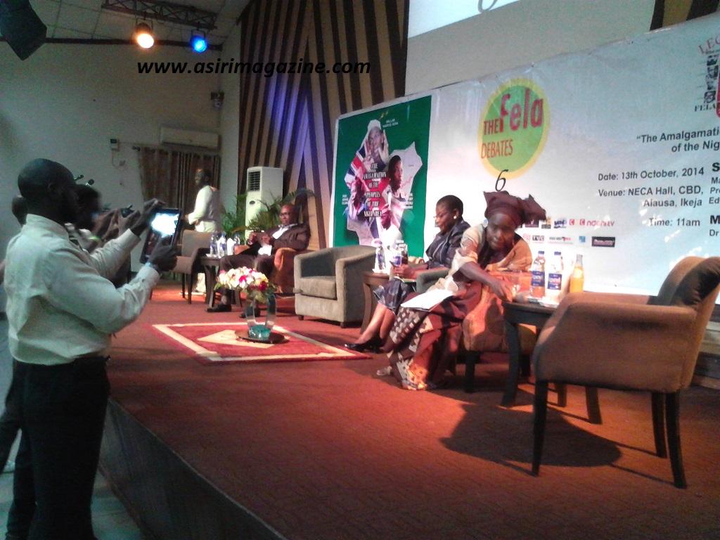During the Fela Debates with Dr Oby Ezekwesili, Prof Sophie Oluwole and Edward Emeka Keazor Esq