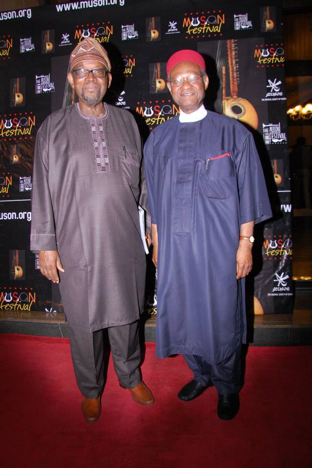 Member and ex-Chairman of Planning Committee, Chief Adeniyi-Williams with Chief Anyaoku