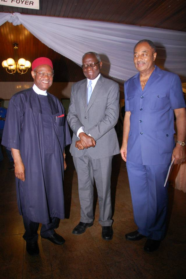 Special Guest of Honour, Chief Anyaoku, with GM, Banjo and Vice Chairman, Sir Mbanefo