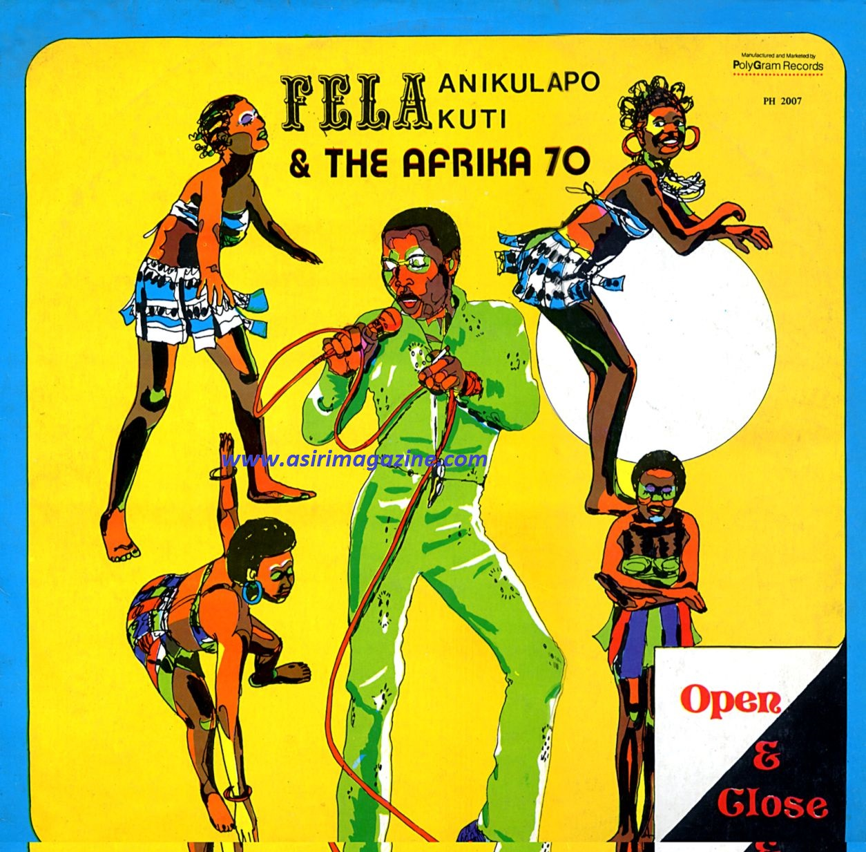 Fela Open and Close Art Cover (1971)