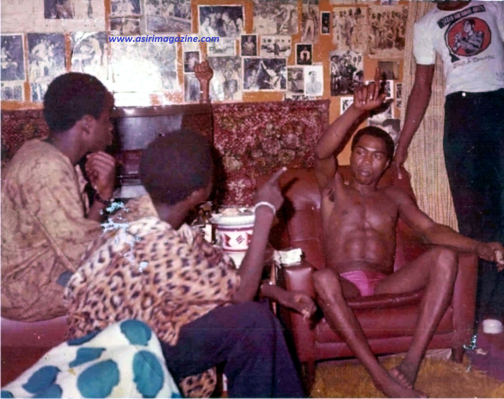 LEMI SPEAKS AND POINTS TO  FELA (1975)