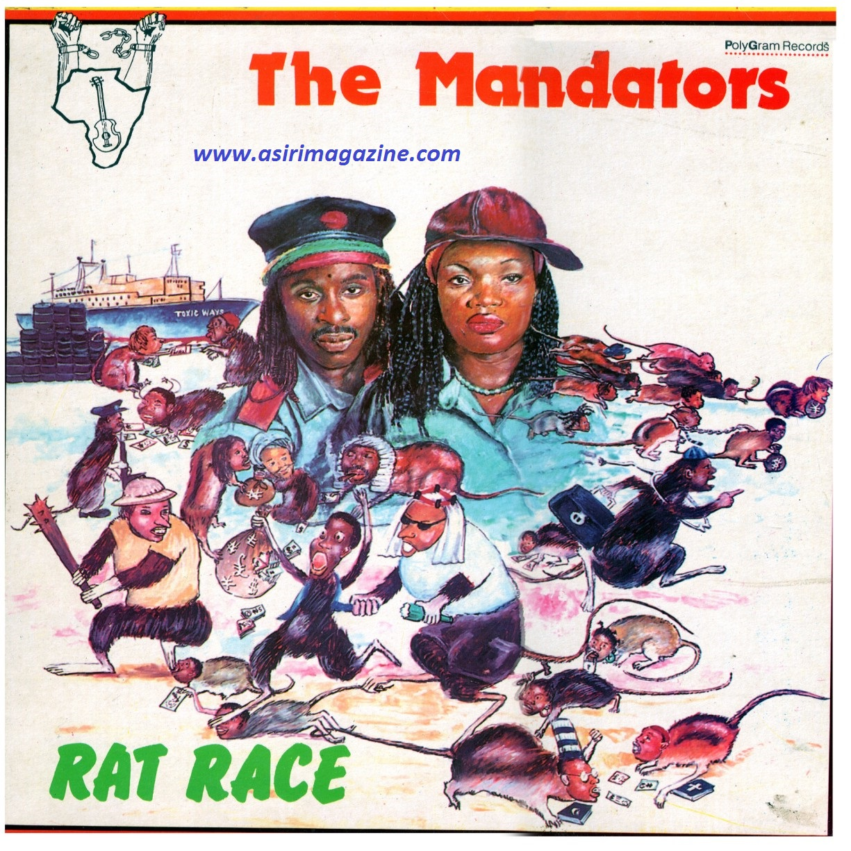 MANDATORS - RAT RACE Art Cover (1988)