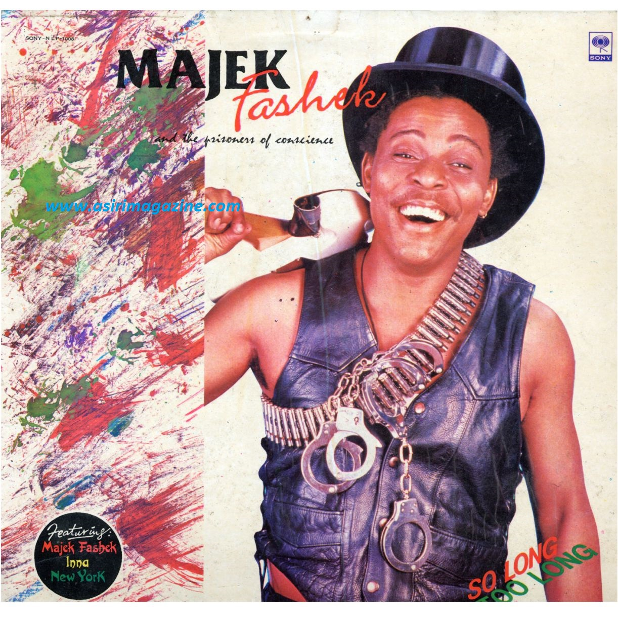 Majek Fashek - So Long Too Long Art Cover