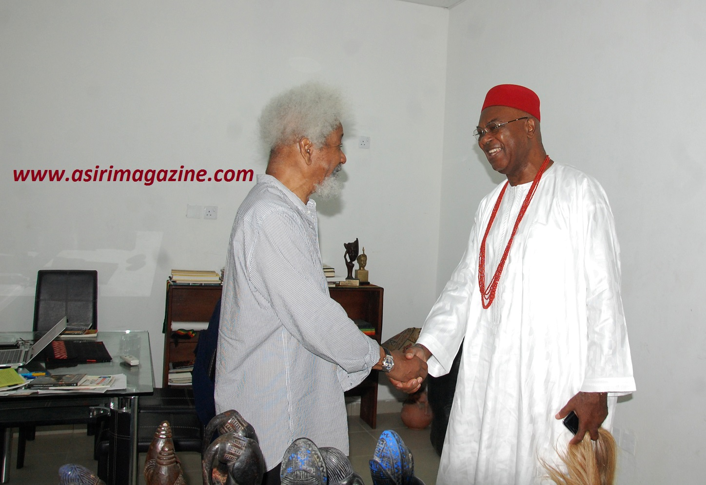 Prof Wole Soyinka and HRM Alfred Achebe (The Obi of Onitsha