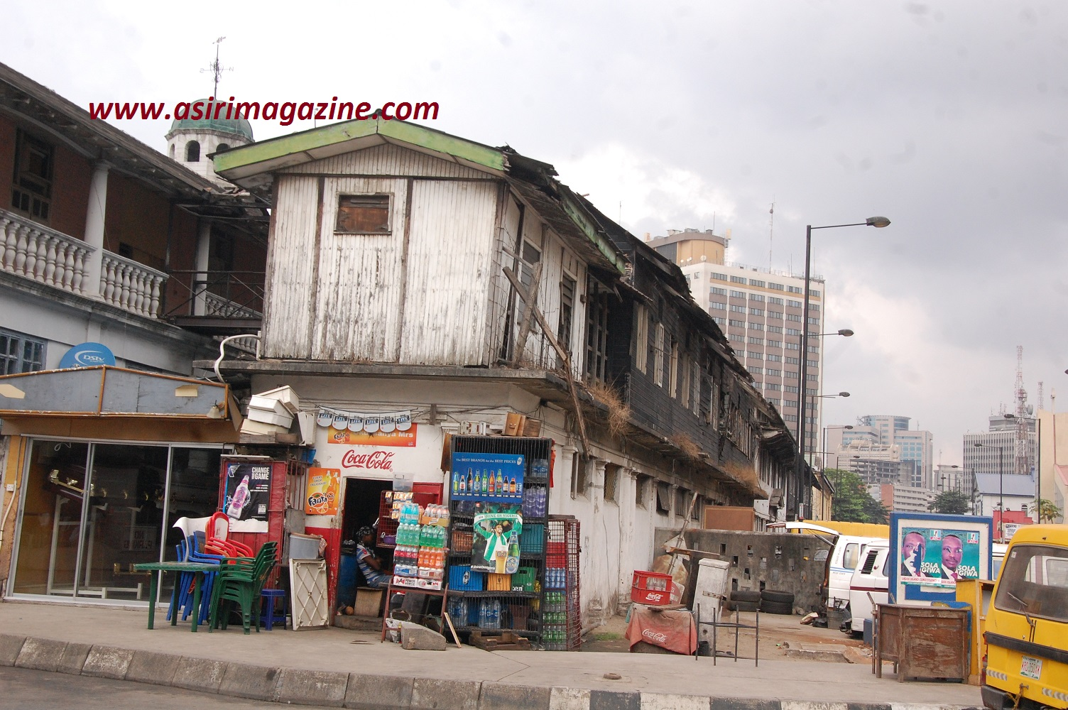 Side view of the former National Archives on Broad street Lagos