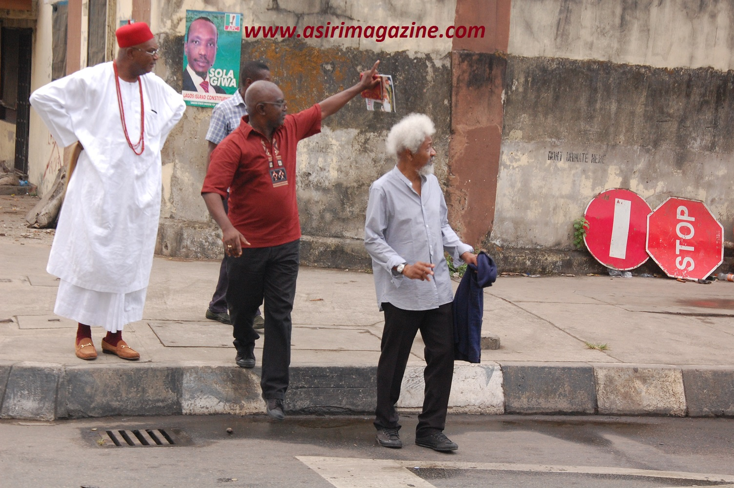 HRM The Obi of Onitsha,Mr Theo Lawson and Prof Wole Soyinka