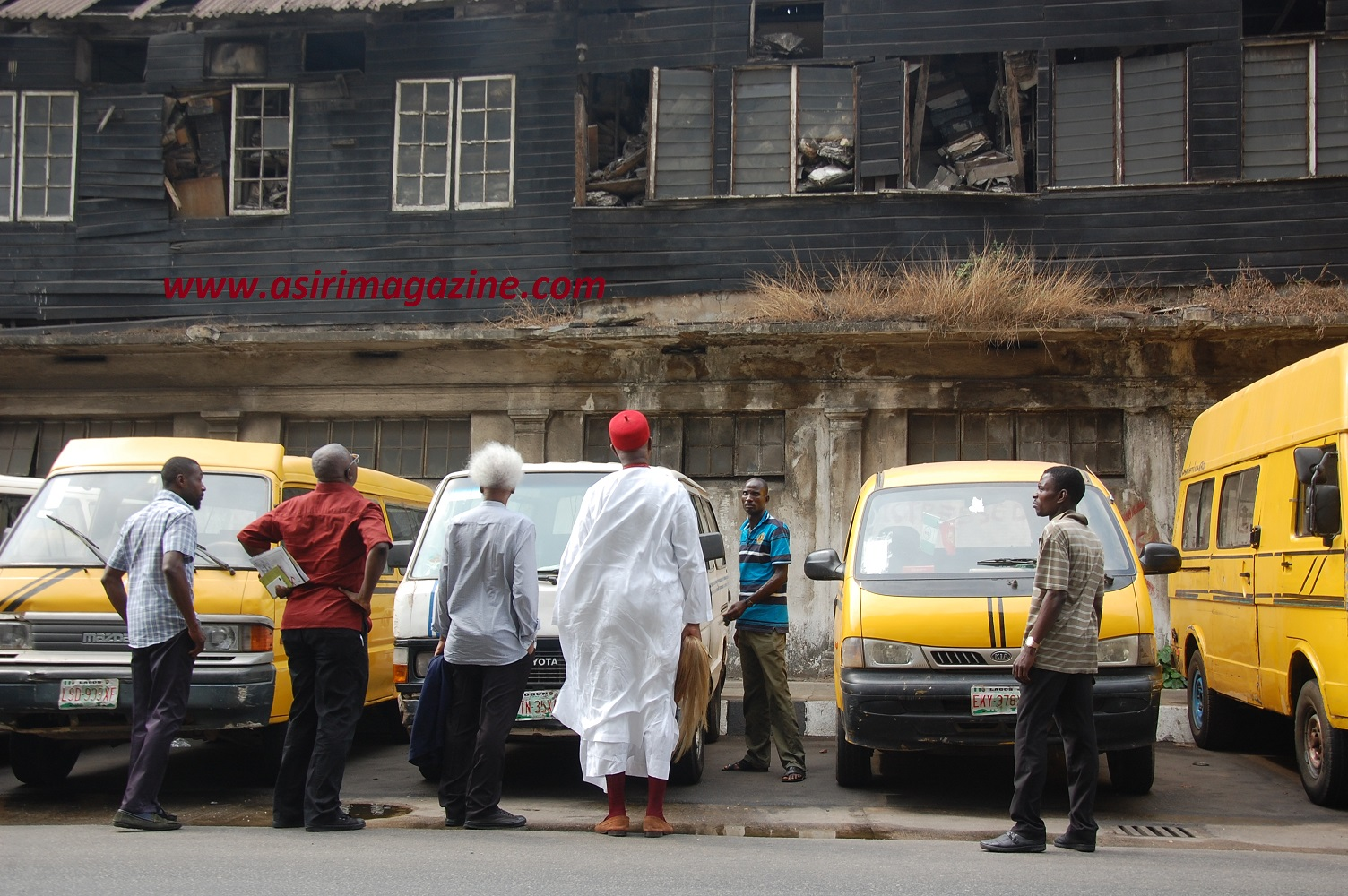 What is left of the  former National Archives on Broad street Lagos