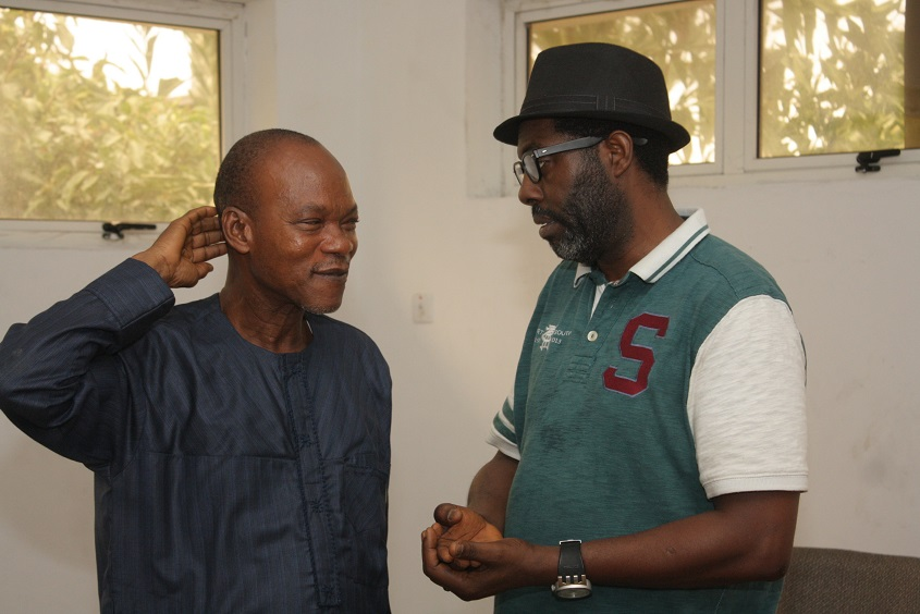 Producer of the film,Deji Adesanya and Femi Odugbemi of iREP