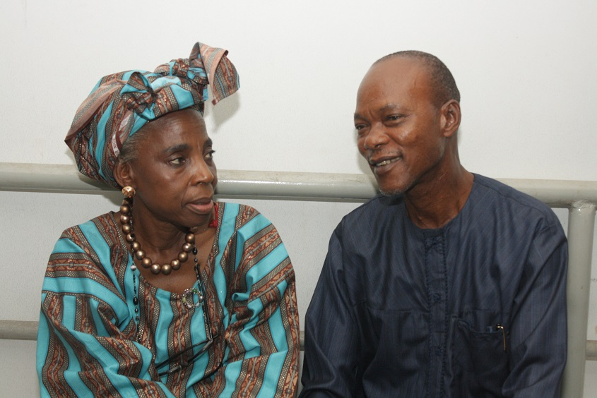 Ms Iyabo Aboaba of Freedom Park Lagos and Deji Adesanya