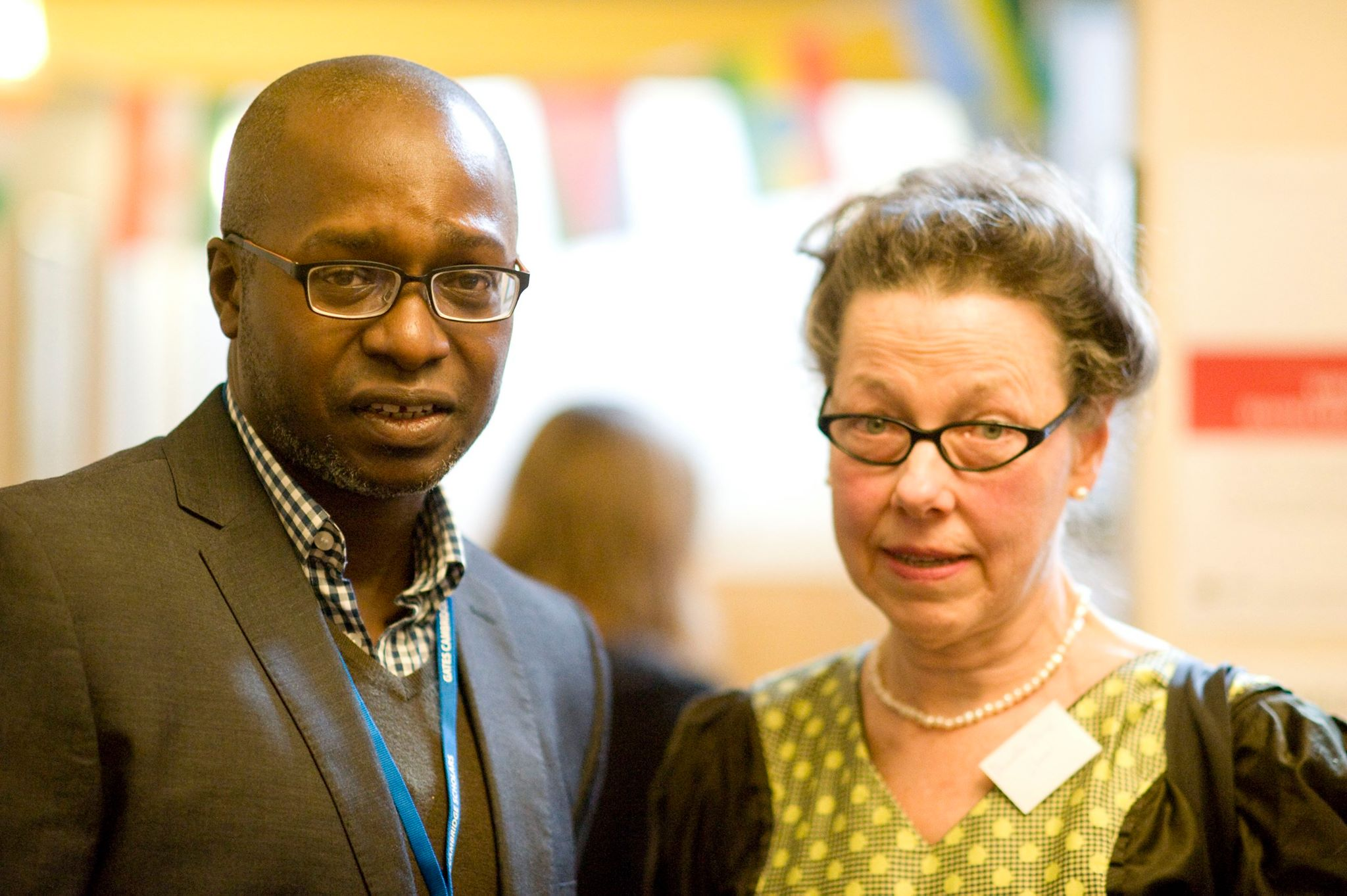 Emeka Ed Keazor and Dr Pam Smith Shaw at award ceremony. Cambridge University