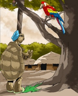 The Tortoise and Orumhonhi Bird