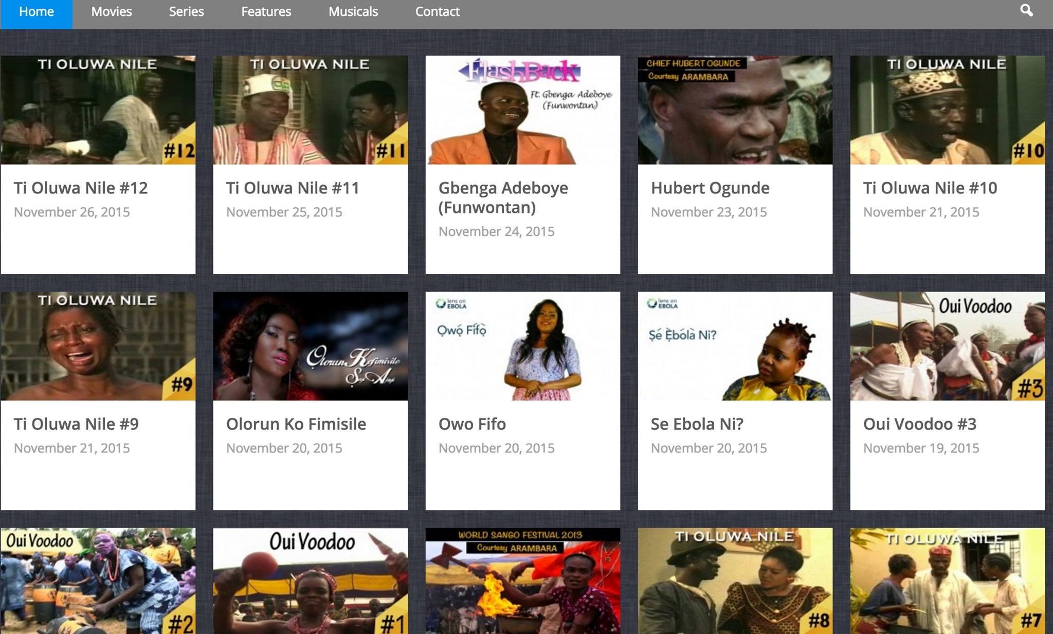 Throwback Indigenous Content on Tunde Kelani Tv