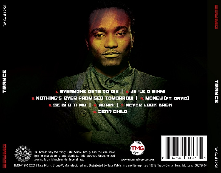 "Back Cover of ""Trance"". Bymo's New Album"