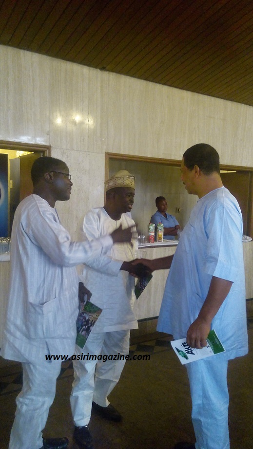 First son of Prof Wole Soyinka,Dr.Olaokun Soyinka with Prof Babawale and Mr Kunle Ajibade