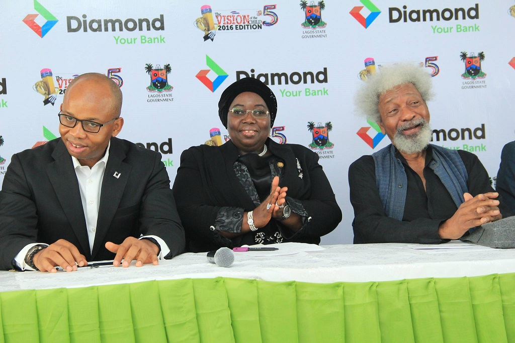 The CEO of Diamond Bank,Deputy Governor of Lagos State and Prof Wole Soyinka