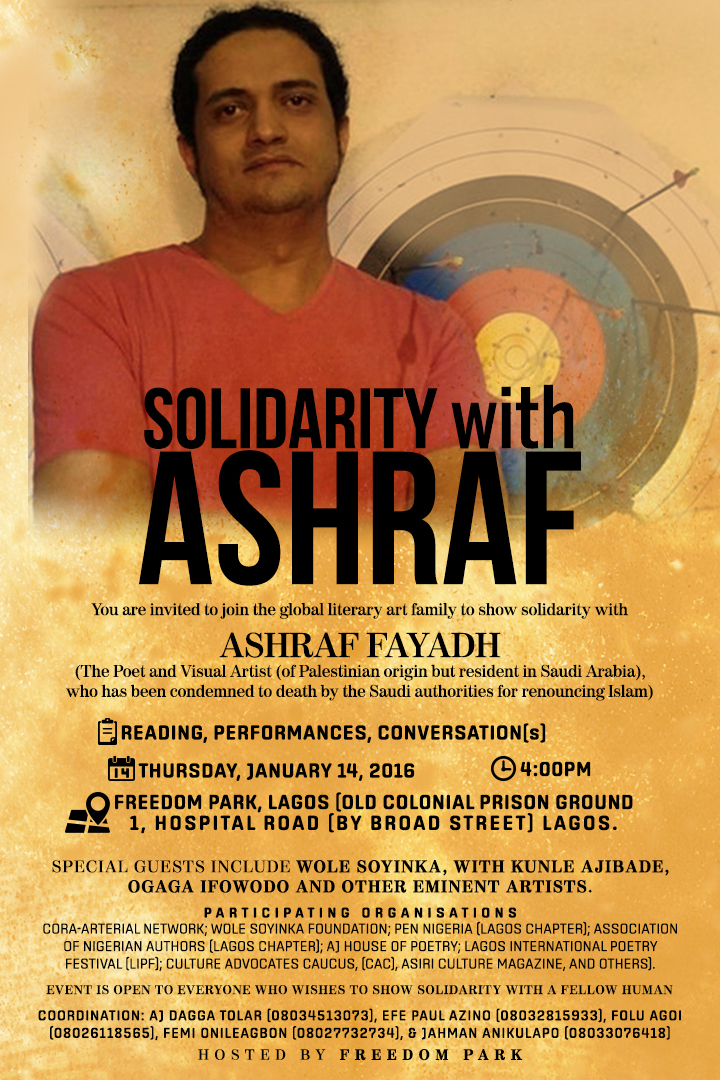 Wole Soyinka, Others Hold Readings in Solidarity with Ashraf Fayadh