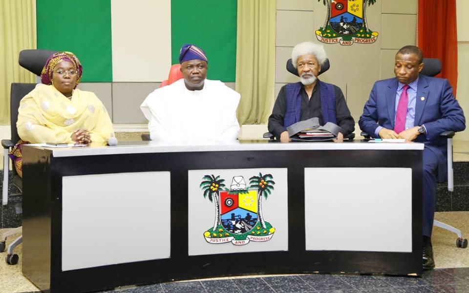 Wole Soyinka and Rasheed Gbadamosi Chair 'Lagos at 50' Planning Committee