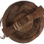 Igbo Carved Lidded Kola Nut Bowl. 'Okwa Oji' Nigeria Divination