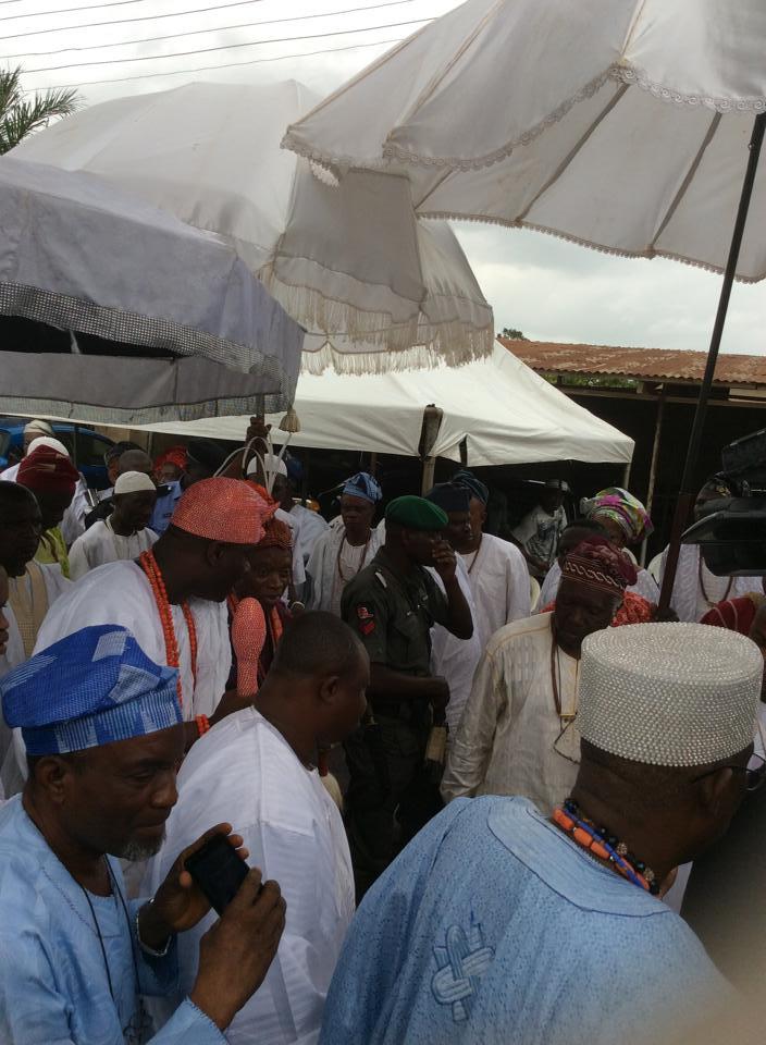 Ooni of ile-Ife Visits Oba Folagbade Olateru Olagbegi and HRH Ojomo Oluda