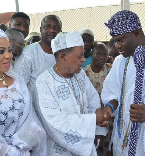 Alaafin,wife and Ooni