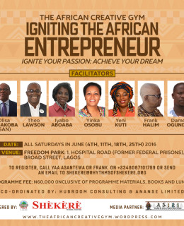 Olisa Agbakoba(SAN), Yeni Kuti, Others to Coach Entrepreneurs at the African Creative Gym