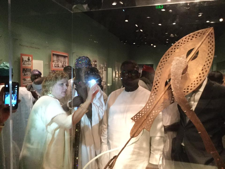 Heritage in a Show Glass: Ooni Visits Smithsonian Museum of Africa Arts.