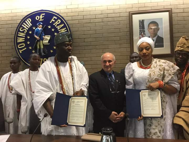 """Ooni, Enthroned to Bless Mankind"" Hon. Philip Kramer, Mayor of Sumerset Franklin"