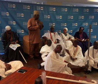 United Nations Population Fund Host Ooni in New-York