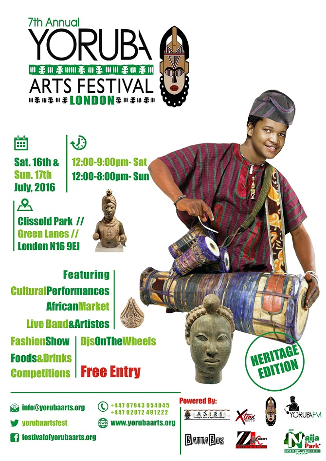 Yoruba Arts Festival Returns to Clissold Park, Hackney London.