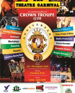 "Crown Troupe of Africa Celebrates 20th Anniversary with ""Eko Theatre Carnival"""