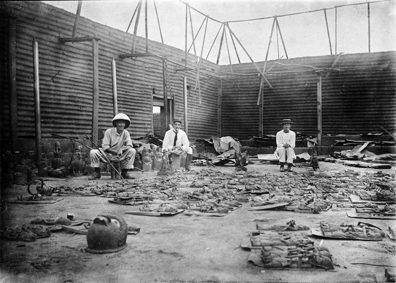 British soldiers in Benin during the 1897 Expedition
