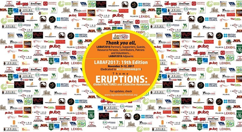 LABAF 2017 holds November 9-12 on the theme: 'ERUPTIONS: Global Fractures & Collective Humanism'