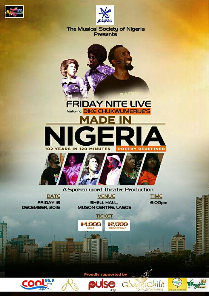 Made in Nigeria; Spoken Word/Theatre Production is back with Dike Chukwumerije