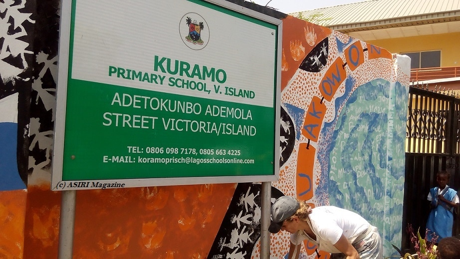 Mural on Lagos History by Polly Alakija Lightens Up Victoria Island