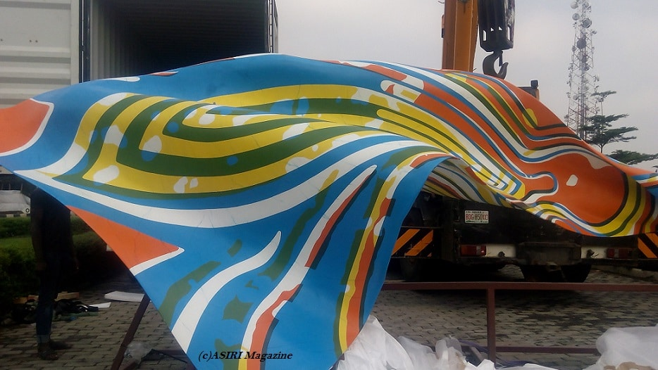 Yinka Shonibare MBE (RA) Wind Sculpture IV Installation Arrives Lagos