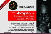 Architect Theo Lawson delivers 7tLagos@50 Colloquium Lecture at Freedom Park, Lagos.