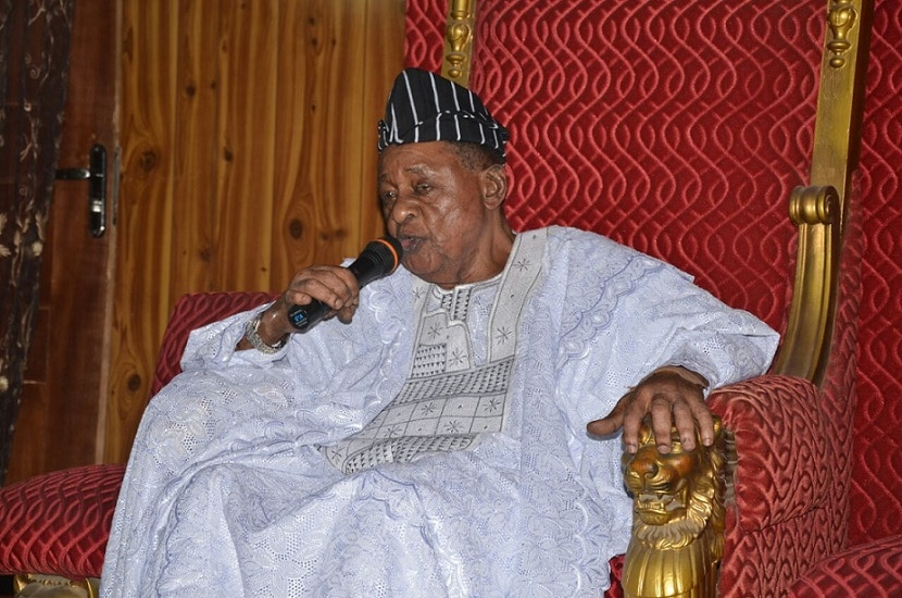 Otunba Gani Adams pays courtesy visit to His Imperial Majesty, Oba Lamidi Olayiwola Adeyemi III.