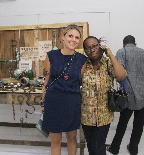 Ndidi Dike and a friend at the Exhibition