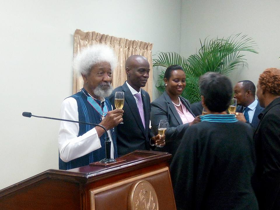 Photos: Wole Soyinka Receives Haitian State's Medal of Honour