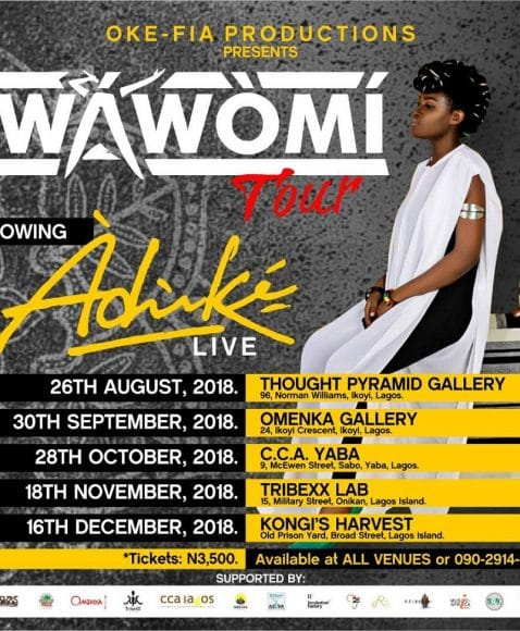 "ADUKE Kicks off ""WAWOMI "" Tour around Art Spaces in Lagos"